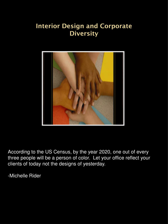 Interior Design and Corporate  Diversity
