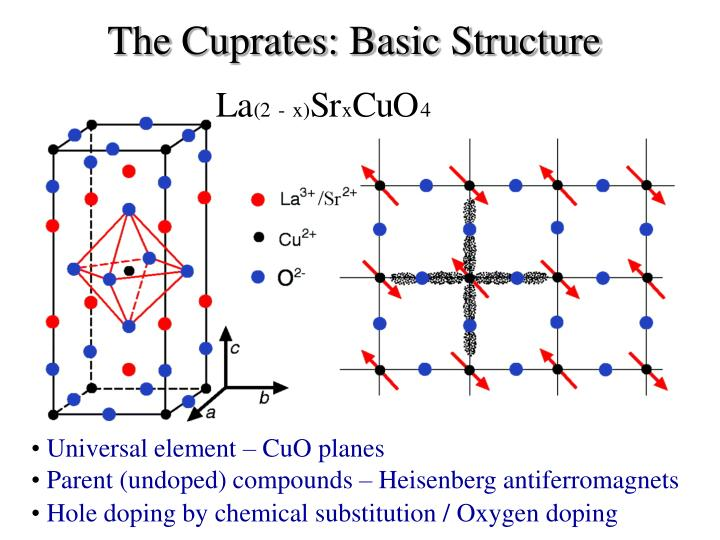 The cuprates basic structure