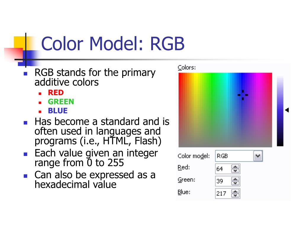 Color Model: RGB