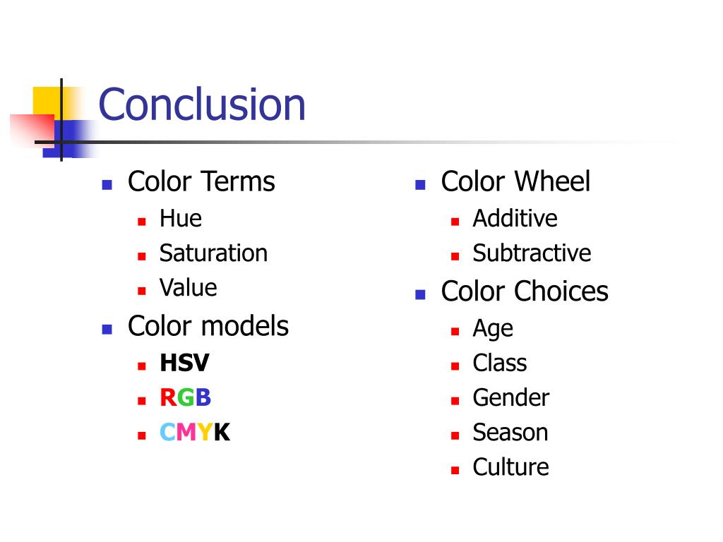 Color Terms