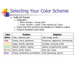 selecting your color scheme28