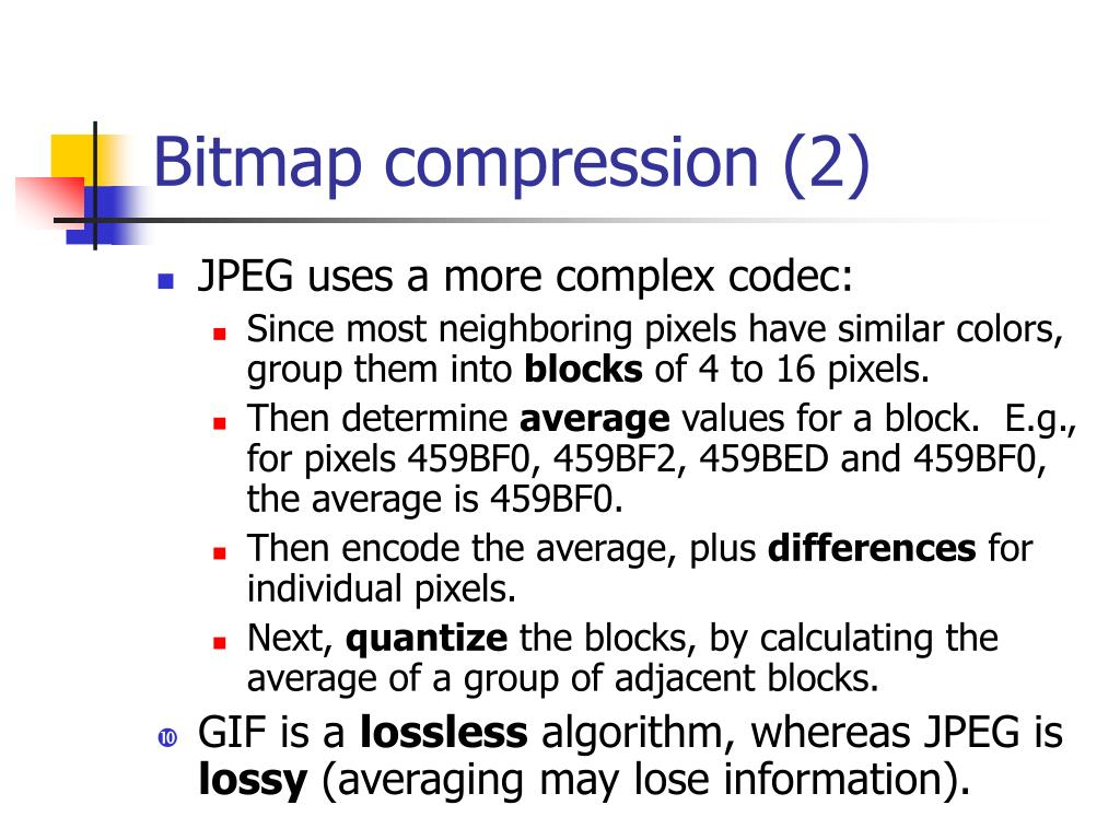 Bitmap compression (2)