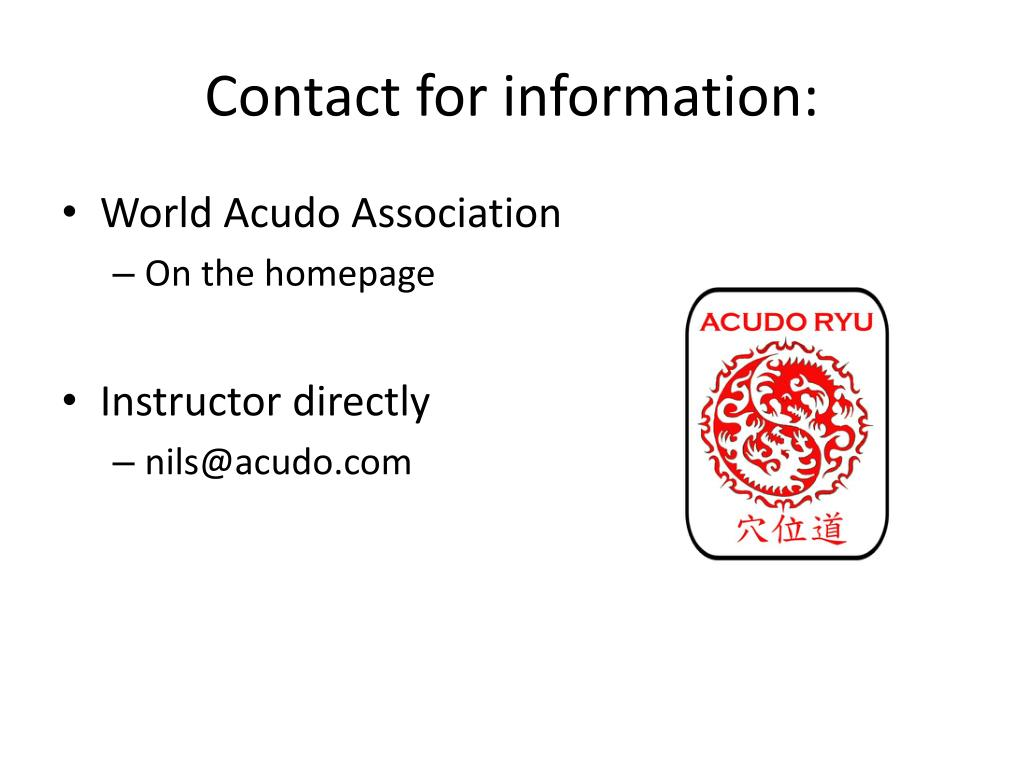 Contact for information: