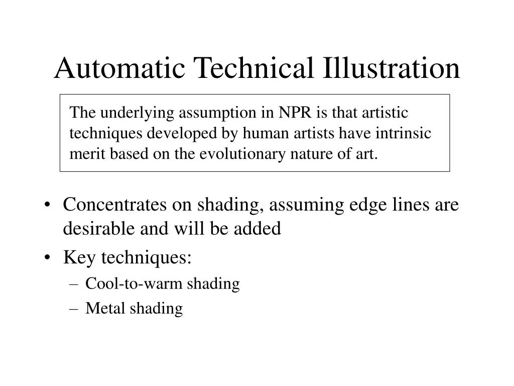 Automatic Technical Illustration