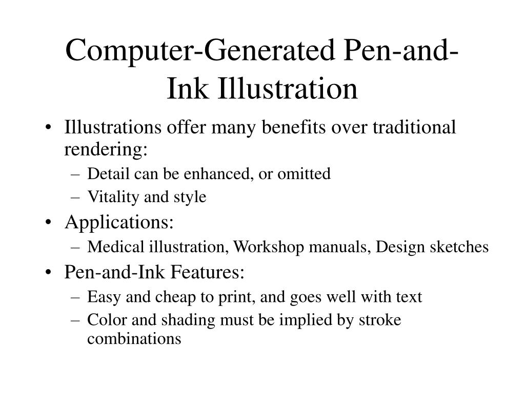 Computer-Generated Pen-and-Ink Illustration
