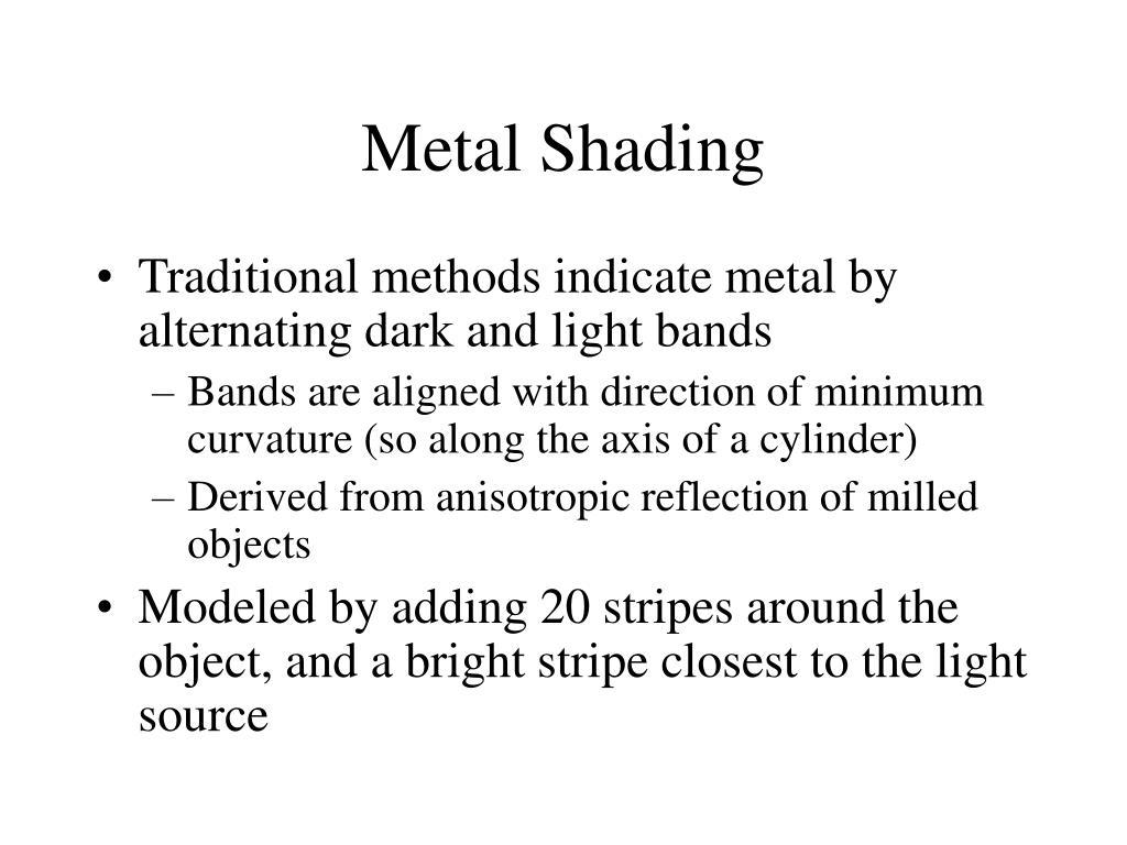Metal Shading