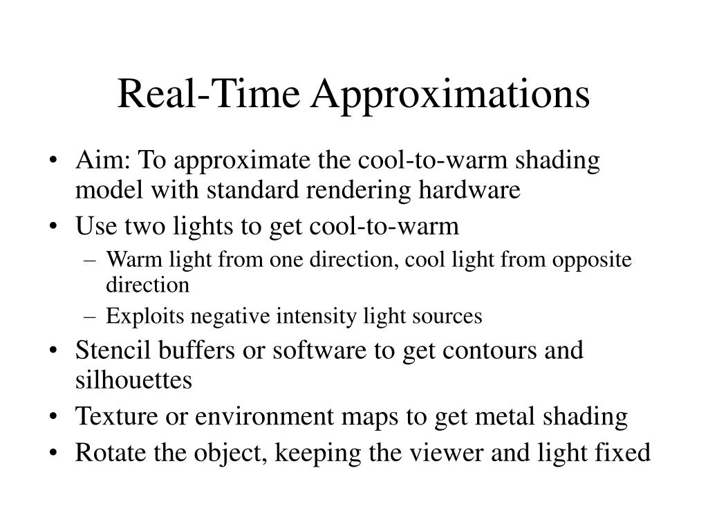 Real-Time Approximations