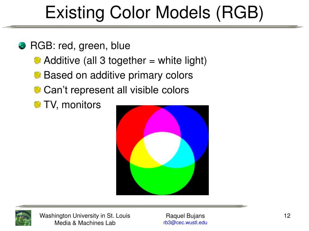 RGB: red, green, blue