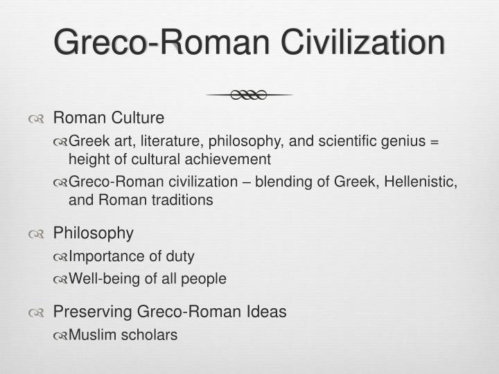 greco roman culture summary