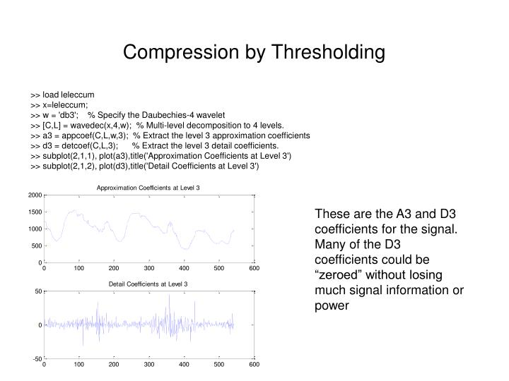 Compression by Thresholding