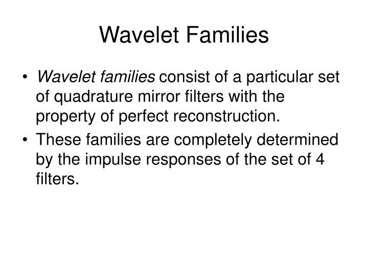 Wavelet Families
