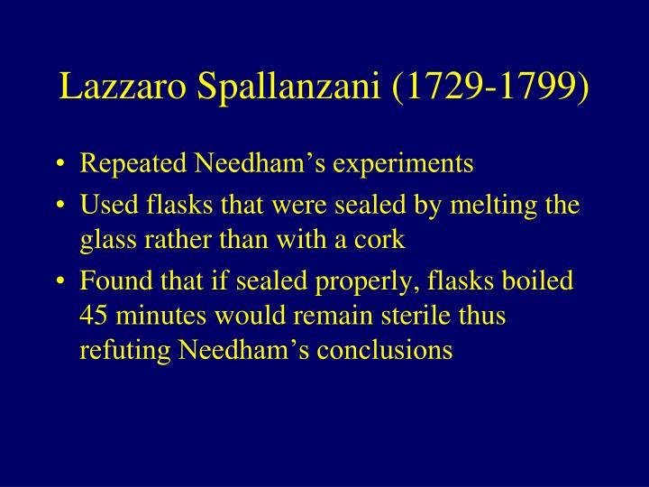 Lazzaro Spallanzani (1729-1799)