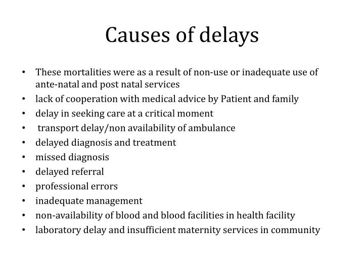 causes of delay There's no one specific cause of developmental delays developmental delays can be an early sign of a learning or attention issue early detection and intervention is important to help your child develop skills.