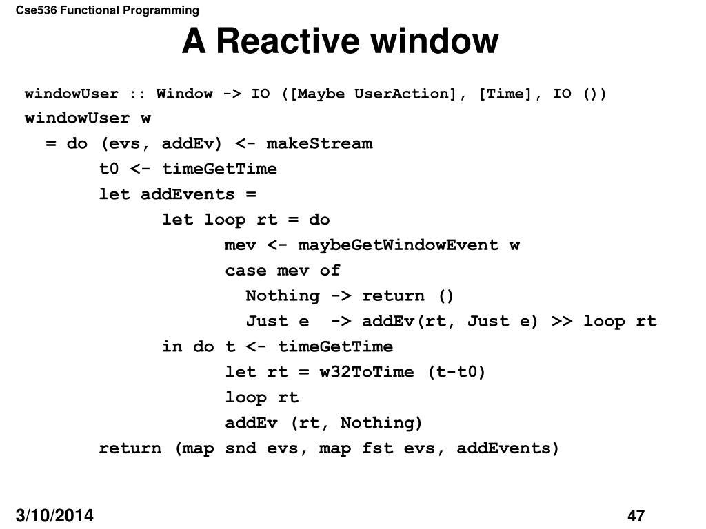 A Reactive window