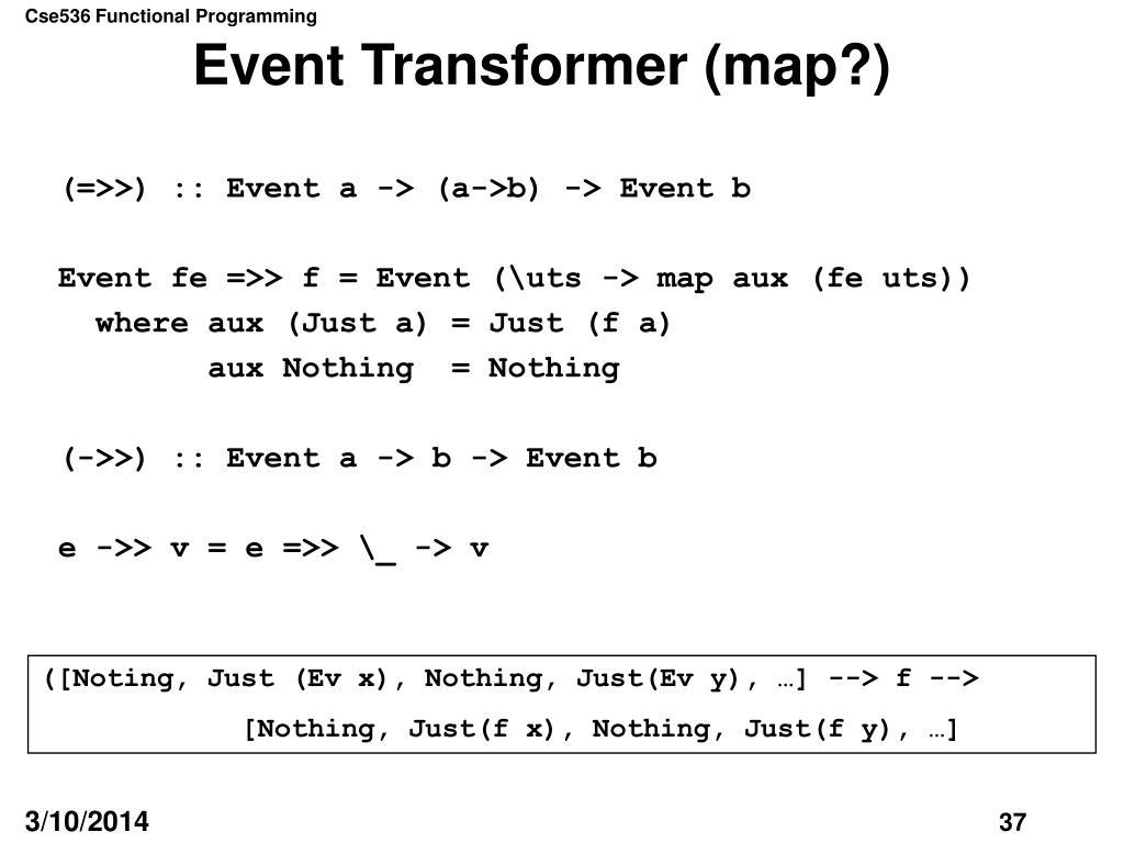Event Transformer (map?)