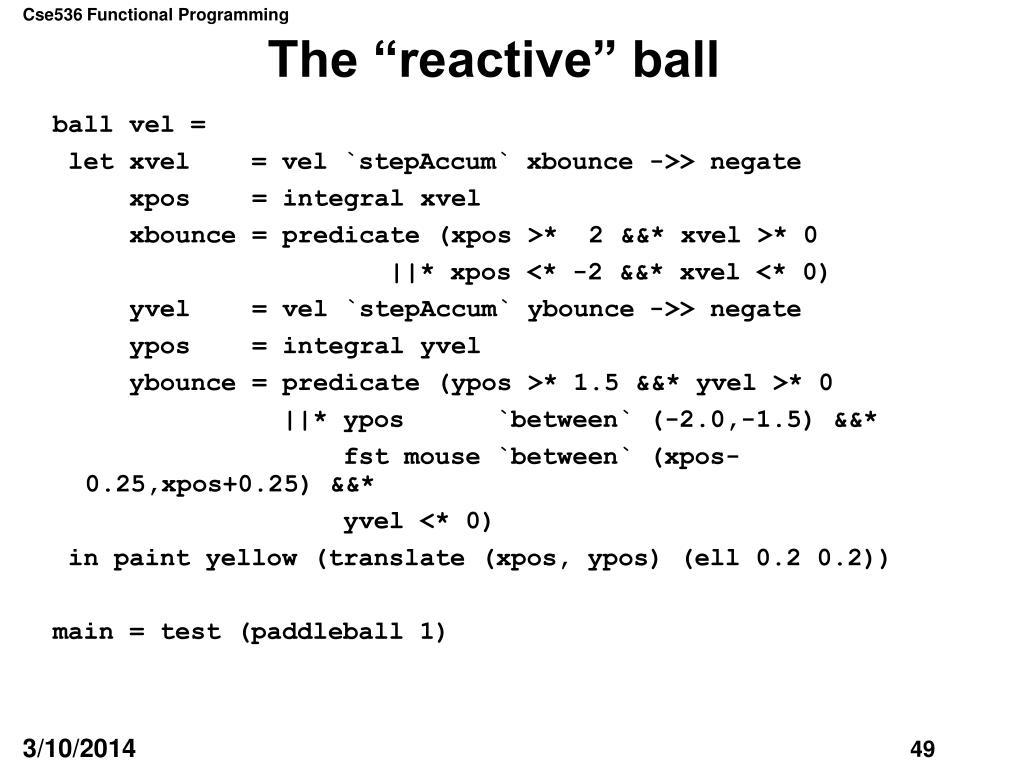 """The """"reactive"""" ball"""