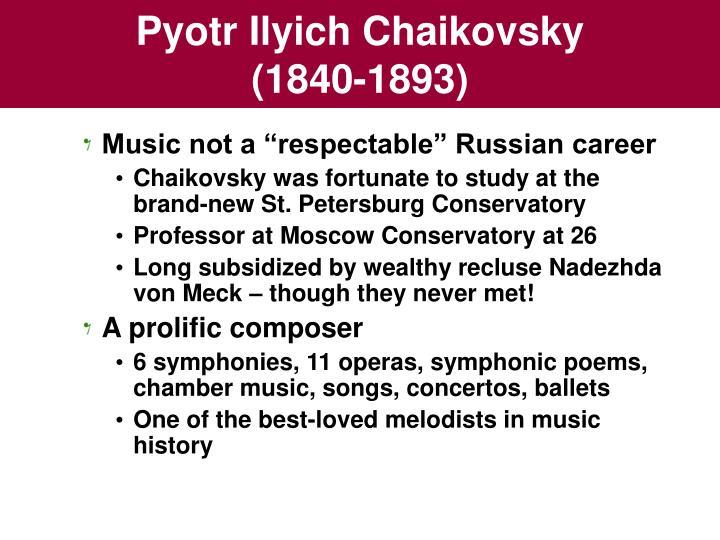 Pyotr Ilyich Chaikovsky