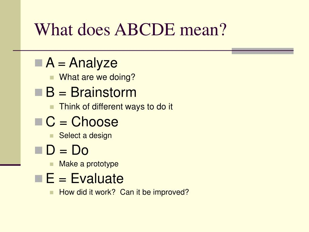 What does ABCDE mean?