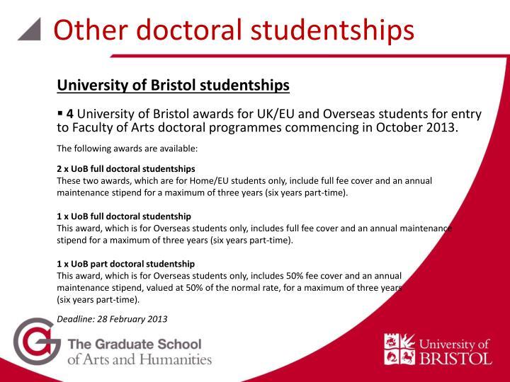 Other doctoral studentships