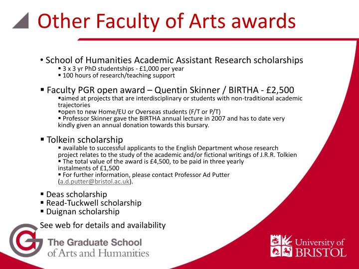 Other Faculty of Arts awards