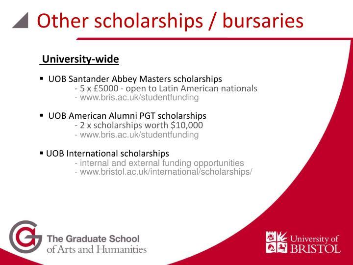 Other scholarships / bursaries