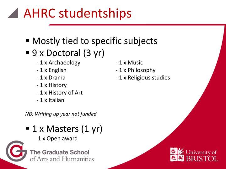AHRC studentships