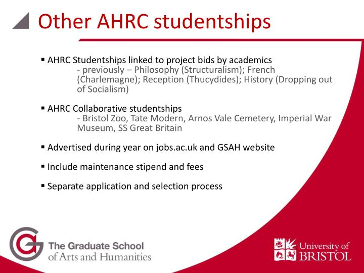 Other AHRC studentships