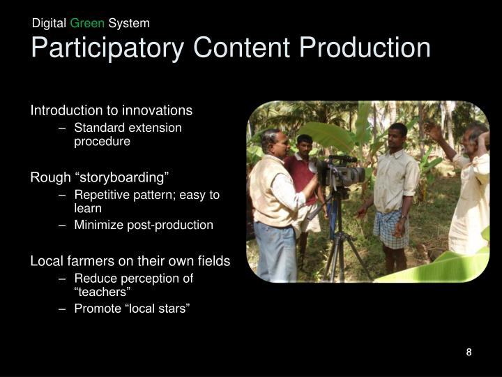 Participatory Content Production