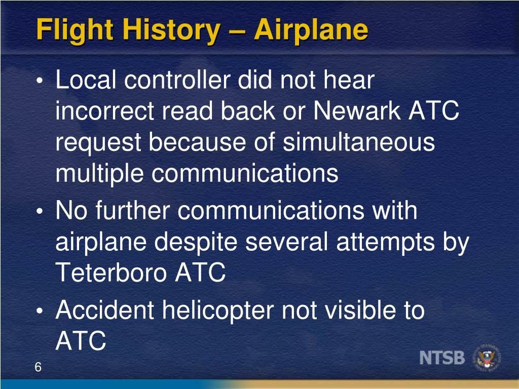 Flight History – Airplane