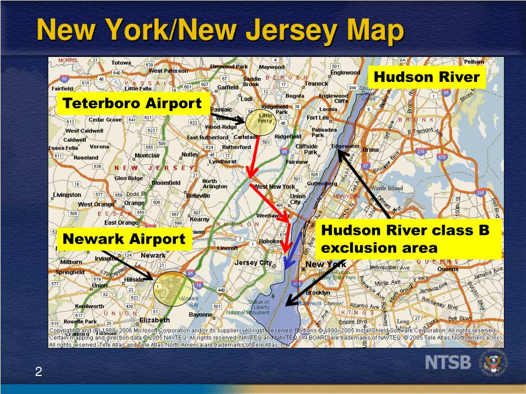 New York/New Jersey Map