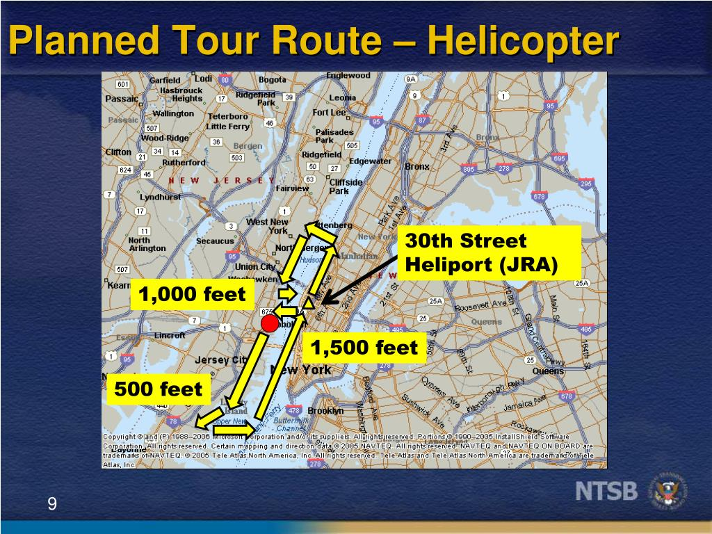 Planned Tour Route – Helicopter