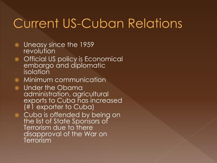 Current US-Cuban Relations