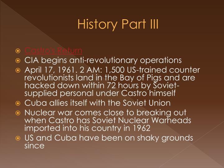 History Part III