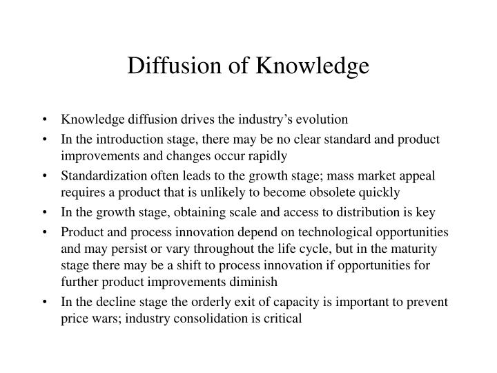 Diffusion of Knowledge