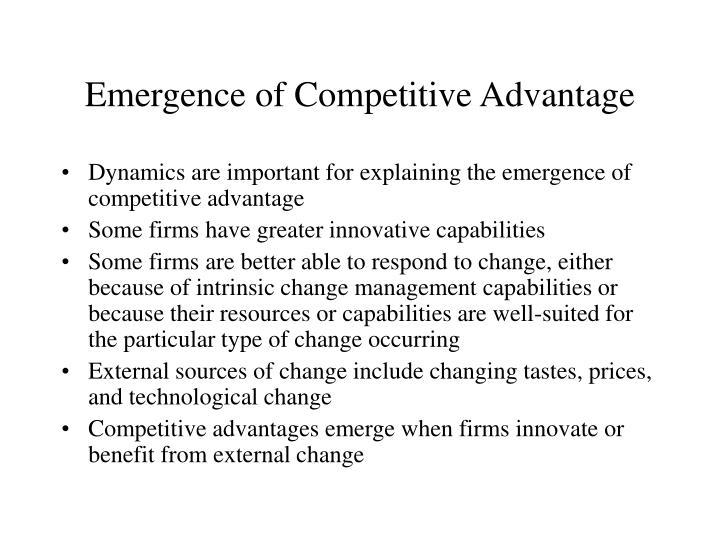 Emergence of Competitive Advantage