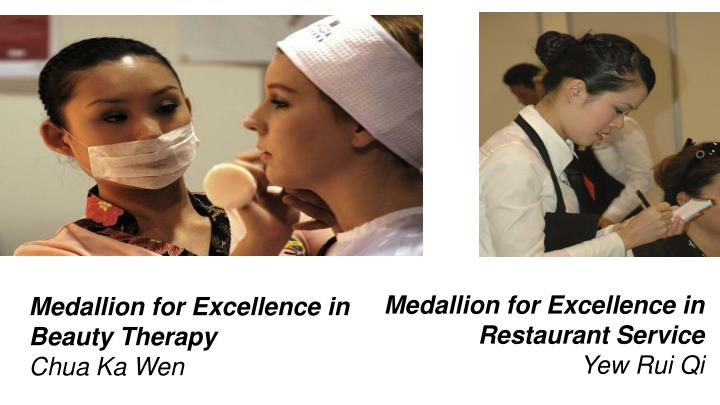 Medallion for Excellence in Restaurant Service