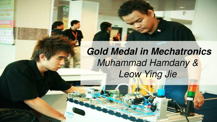 Gold Medal in Mechatronics