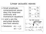 linear acoustic waves