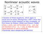 nonlinear acoustic waves