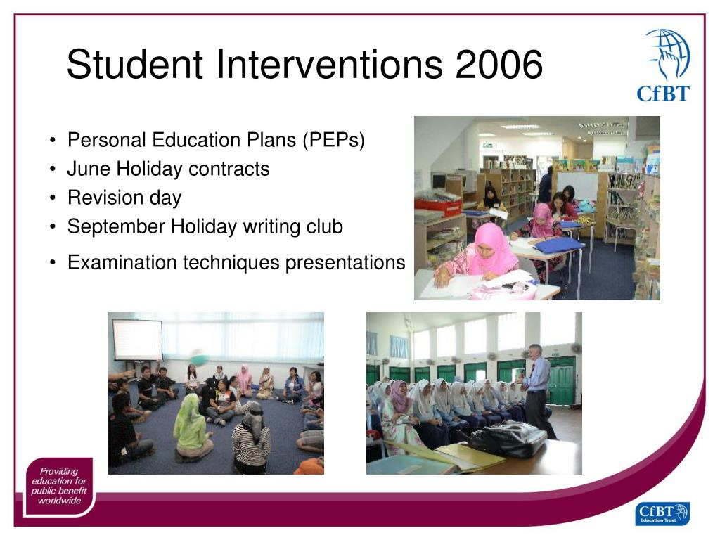 Student Interventions 2006