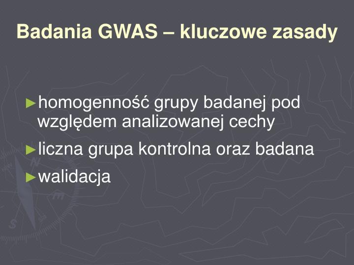 Badania GWAS – kluczowe zasady