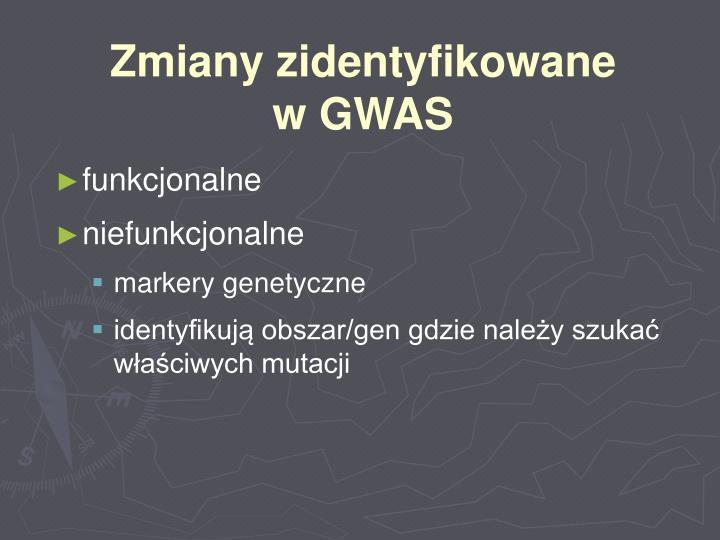Zmiany zidentyfikowane w GWAS