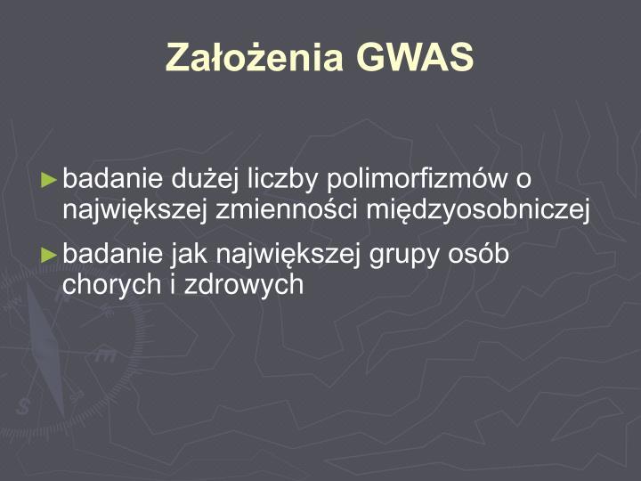 Założenia GWAS