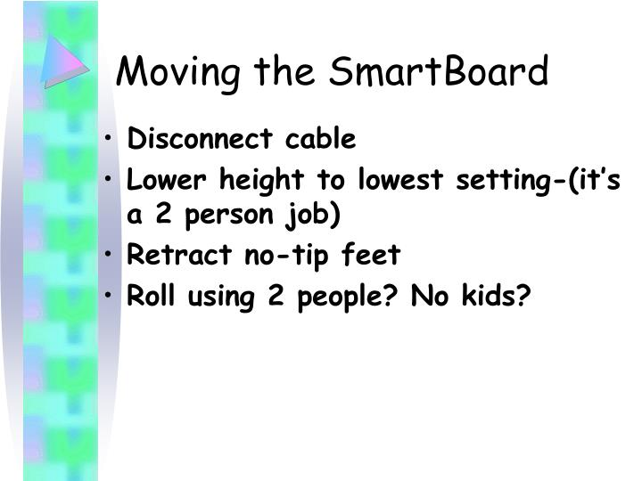Moving the SmartBoard
