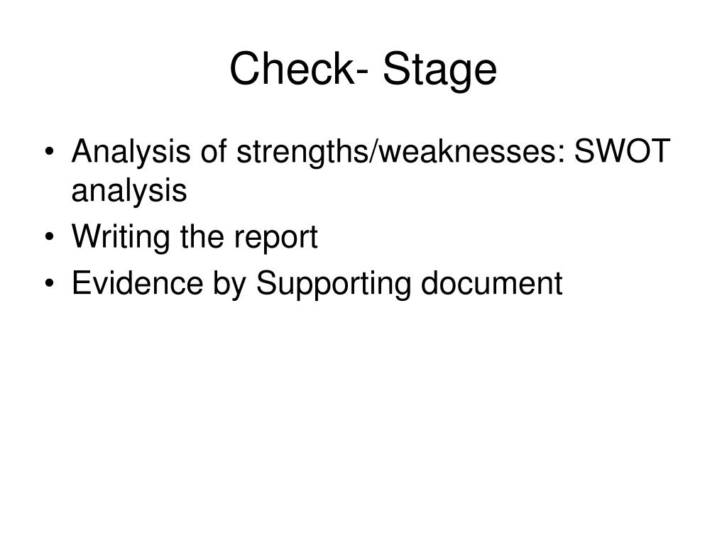 Check- Stage