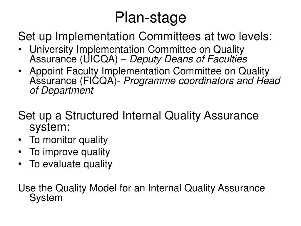 Plan-stage