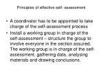 principles of effective self assessment16