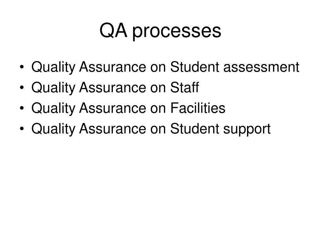 QA processes