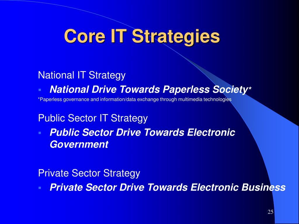 Core IT Strategies