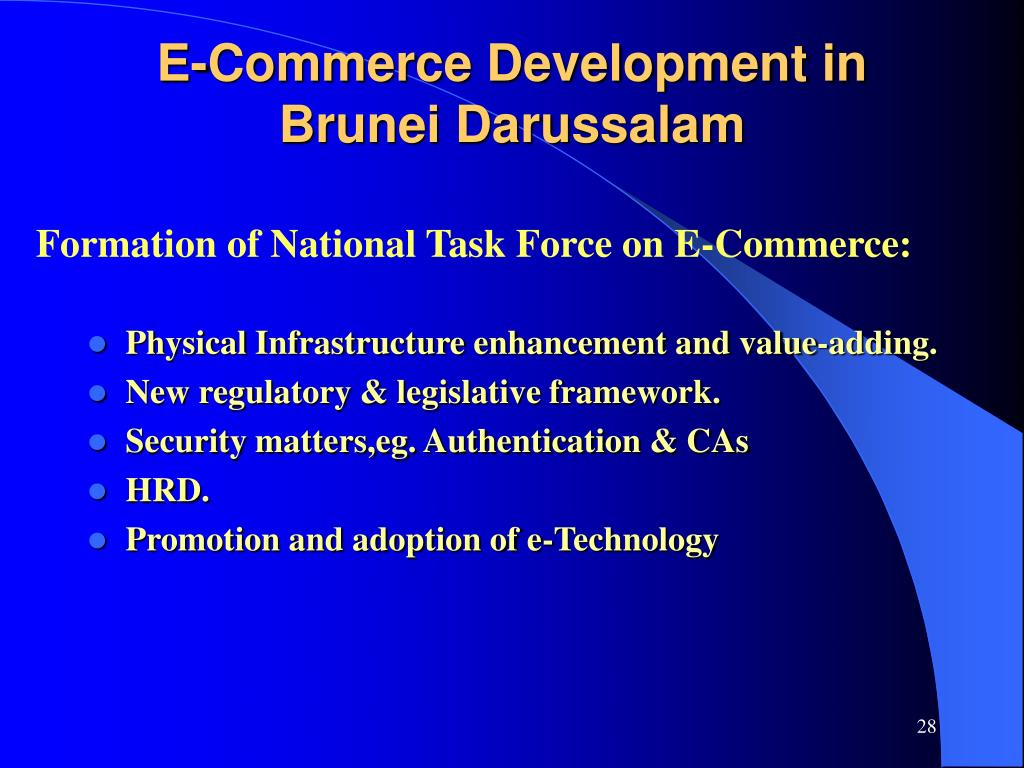 Formation of National Task Force on E-Commerce: